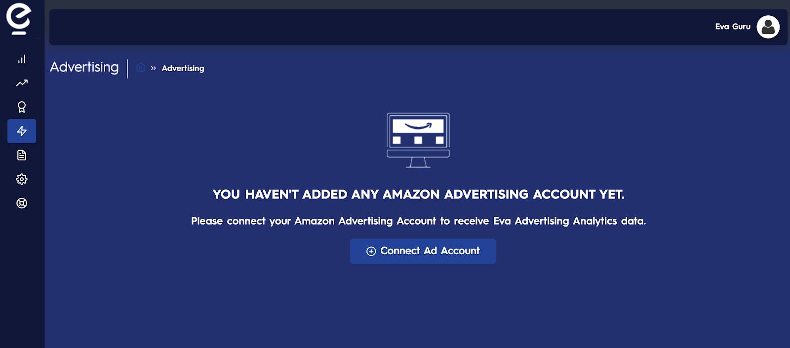 Connecting Amazon Advertising Account To Eva - Eva