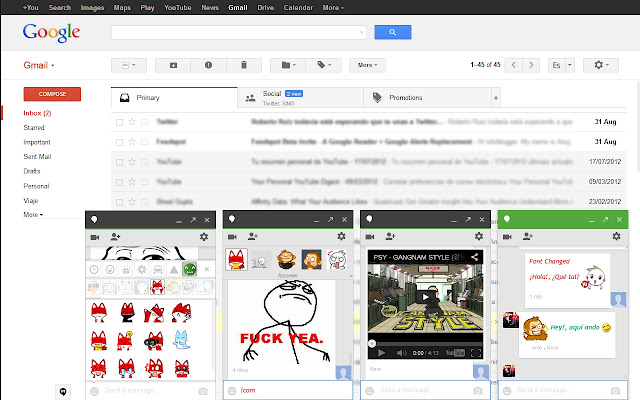 Custom Hangout Emoticons chrome extension