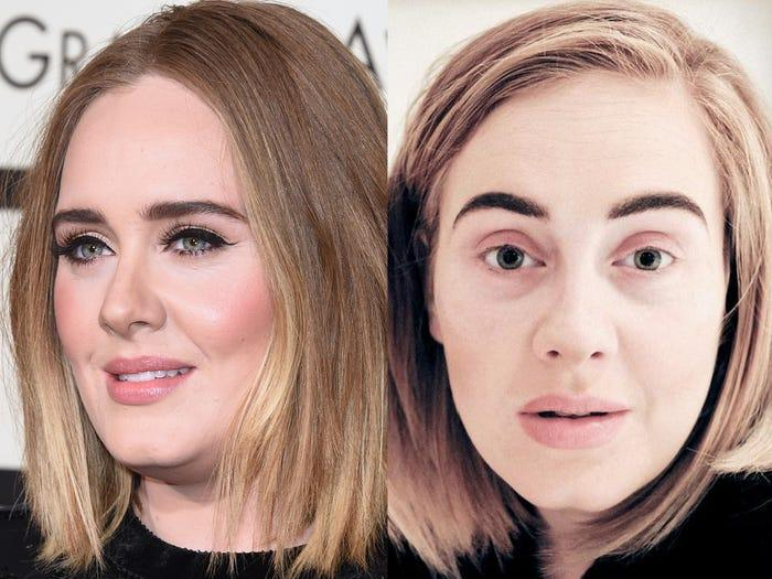 adele no makeup