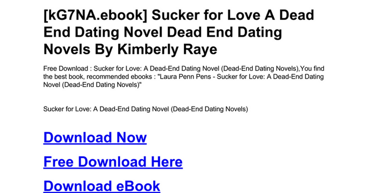 dead end dating series