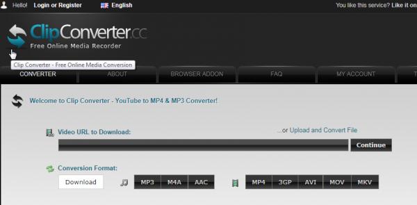 تحميل فيديو من يوتيوب عبر موقع clipconverter