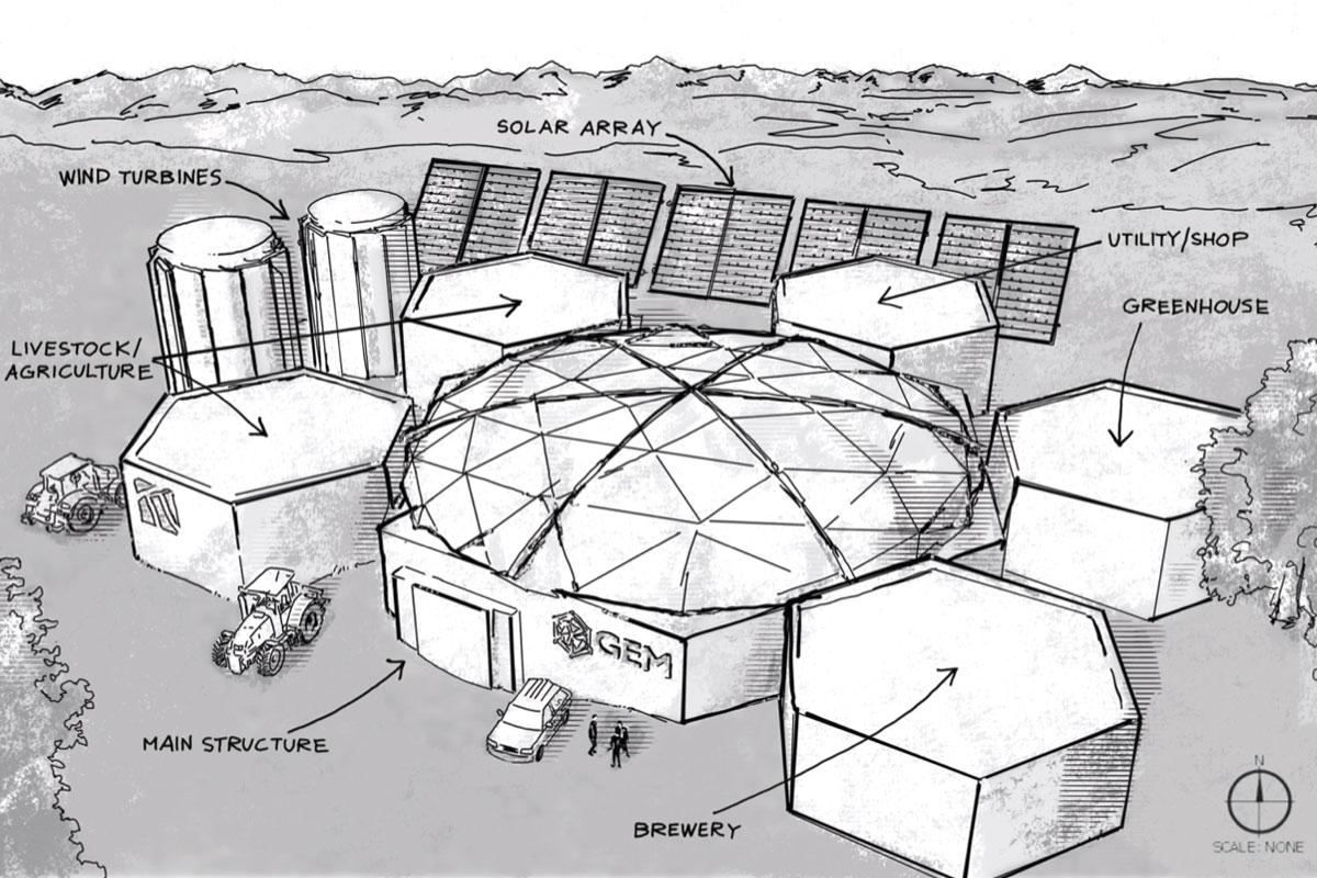 geodesic dome mining