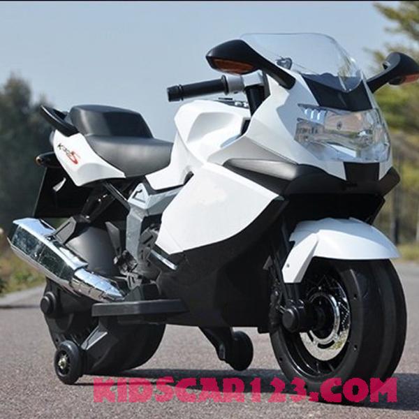 xe moto điện trẻ em BMW K1600S màu trắng