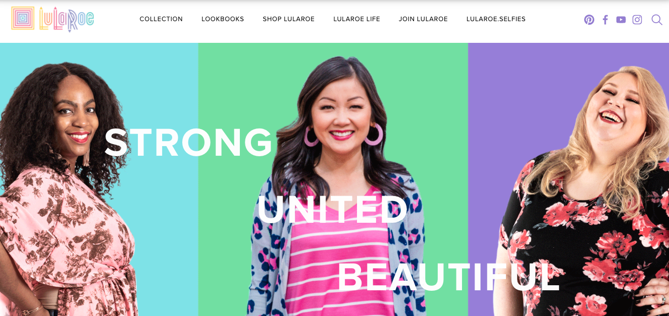 screenshot of LulaRoe website