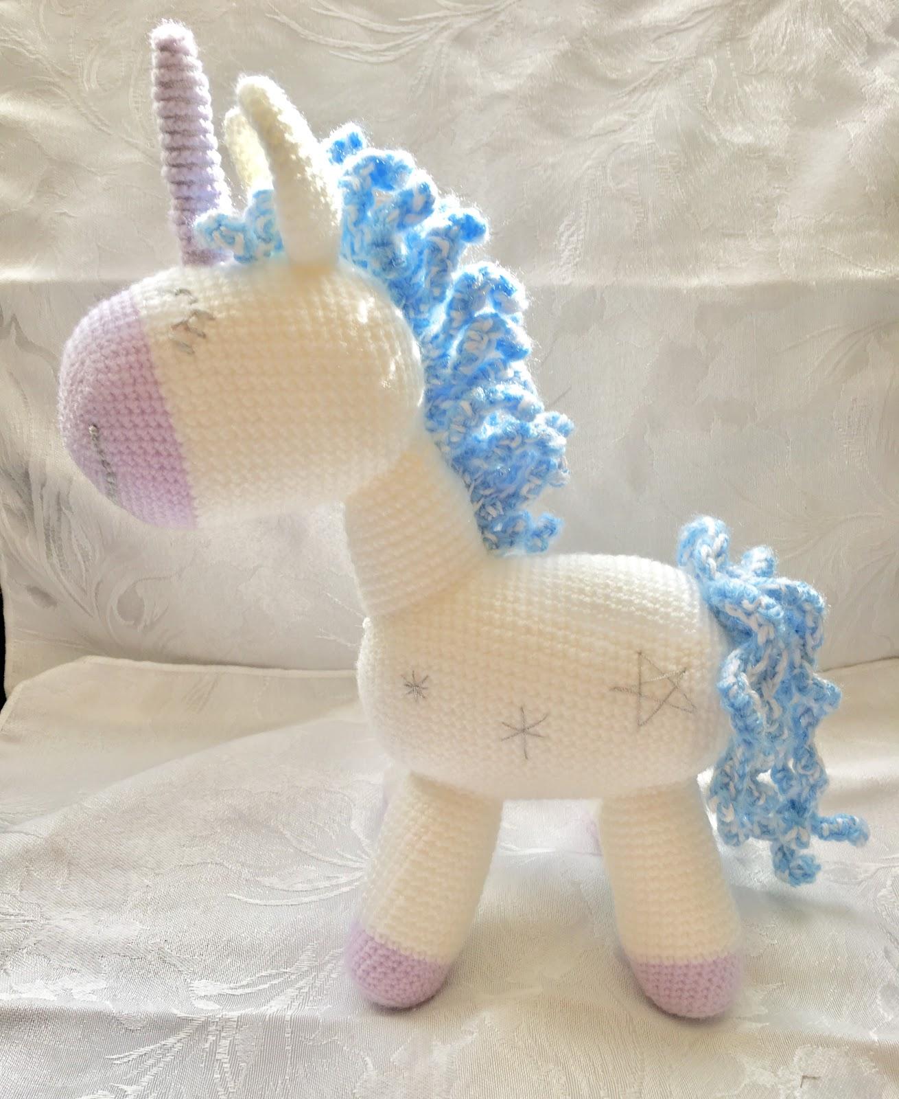 Jasmine the Unicorn Crochet Side