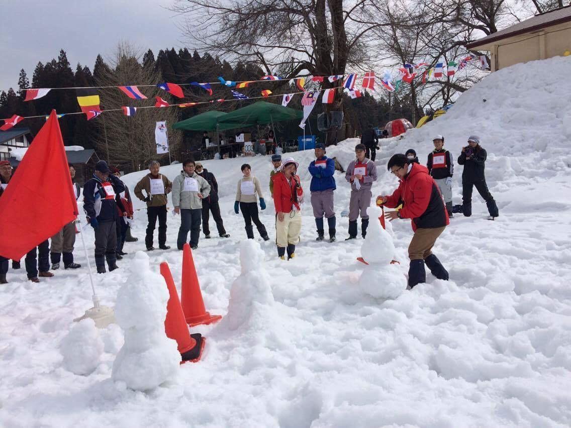 雪の運動会の写真