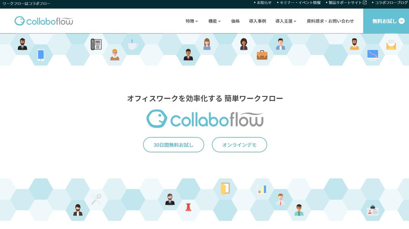 コラボフローのサイト画像
