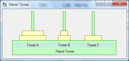 برج هانوی ویژوال بیسیک