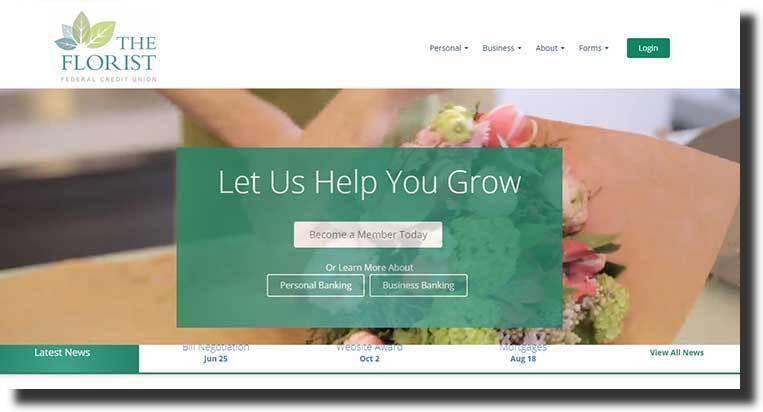 Florist banking website design