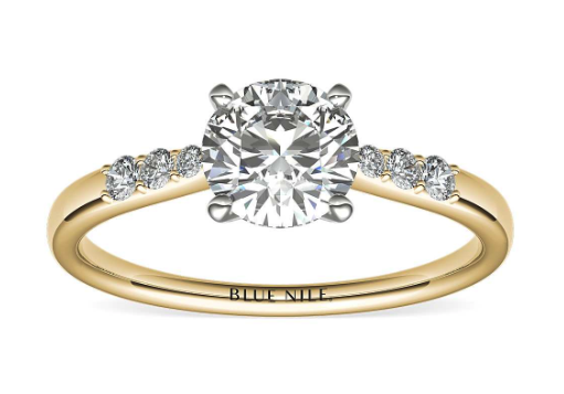 Yellow Gold Petite Diamond Ring from Blue Nile