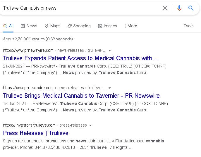 Trulieve cannabis PR