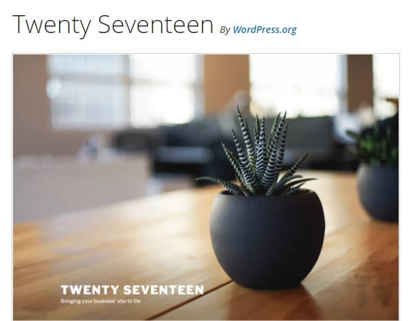 tema twenty seventeen do wordpress