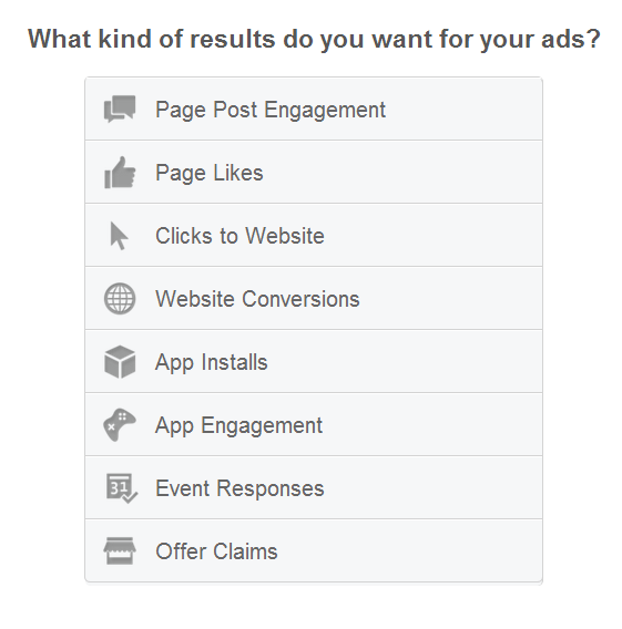FB ad results