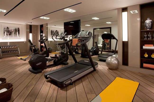 Phòng gym với đầy đủ trang thiết bị