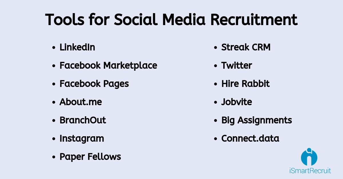 Social Media Recruitment Tools