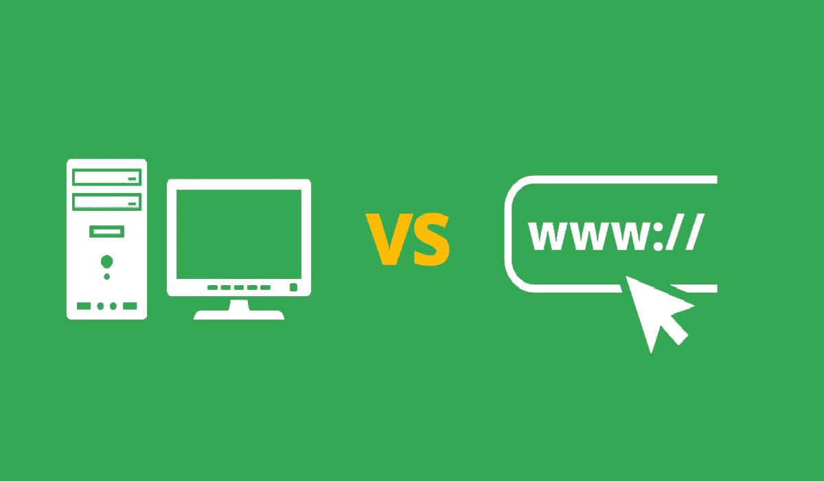 desktop apps and web apps