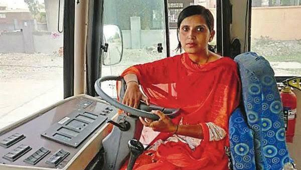 Women bus drivers in Pune
