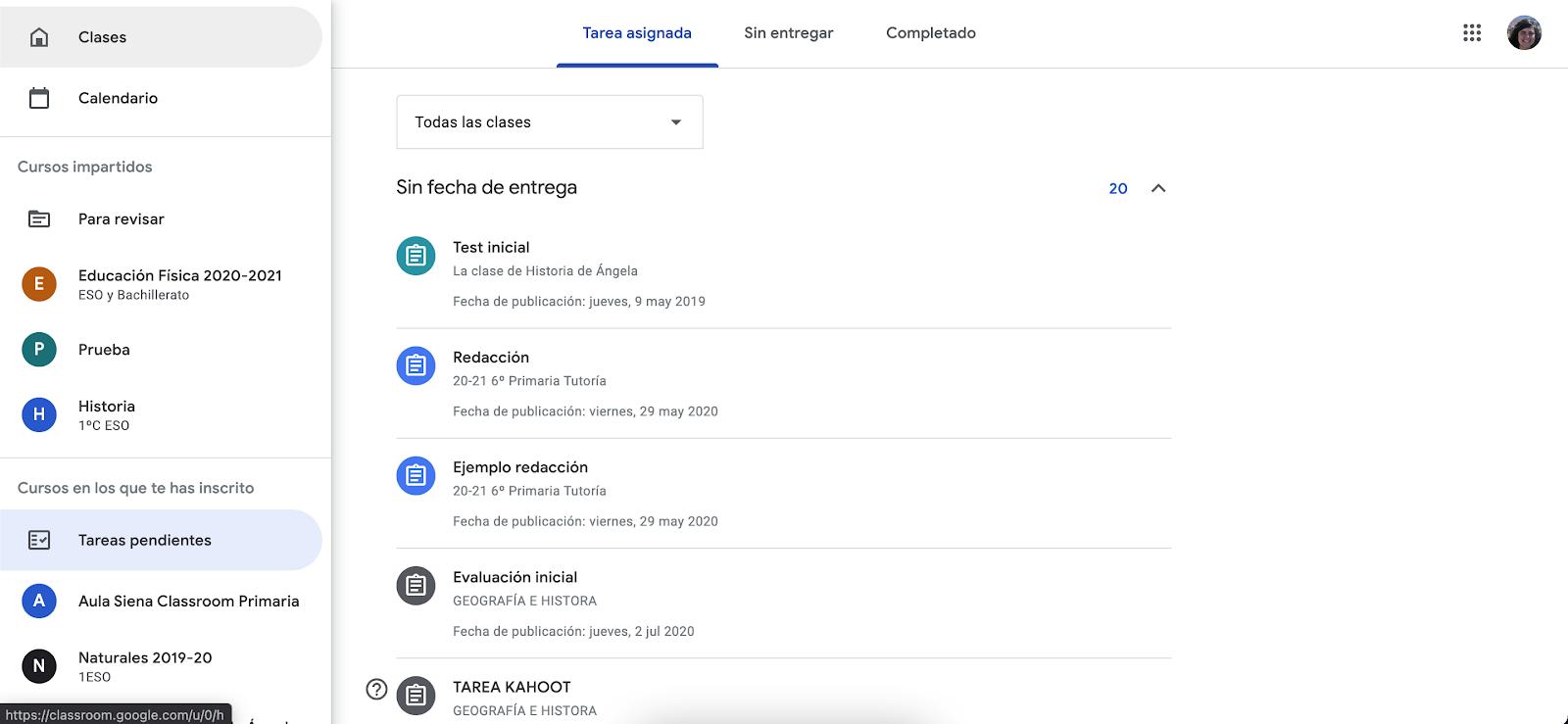 Trucos para sacar el máximo provecho a Google Classroom. Revisa las tareas pendientes que tienes como alumno.