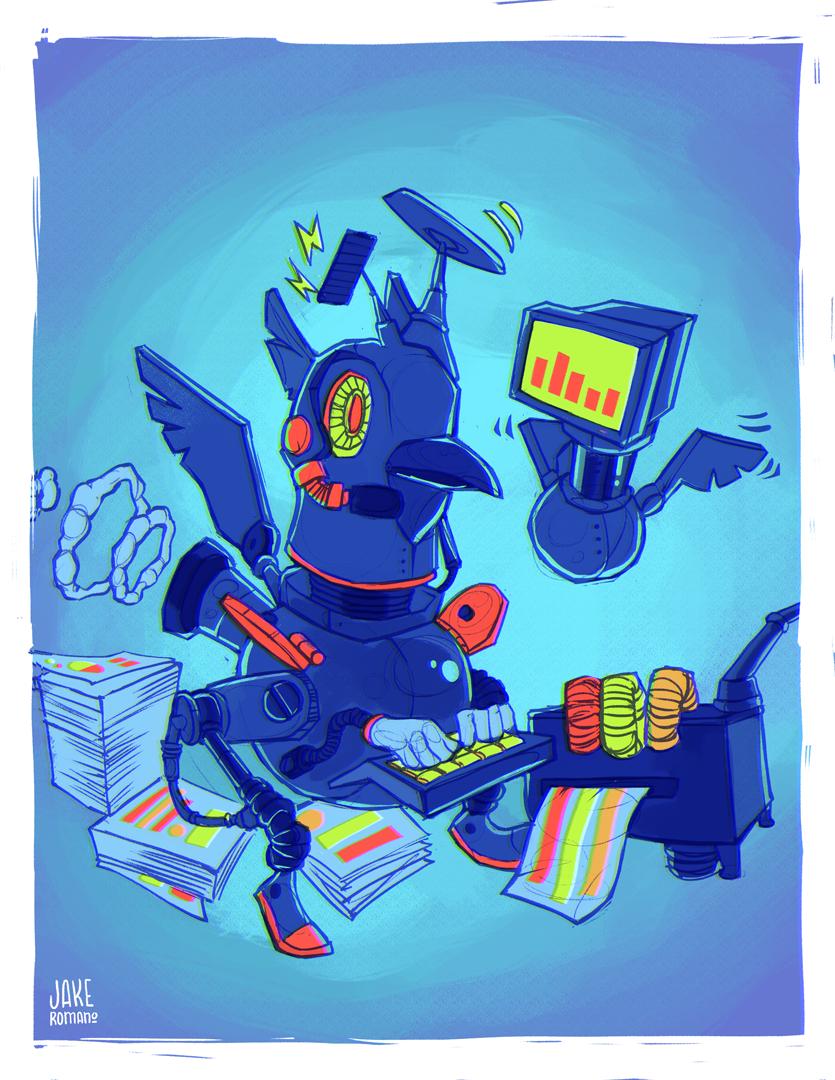 raven seo tools mascot drawing