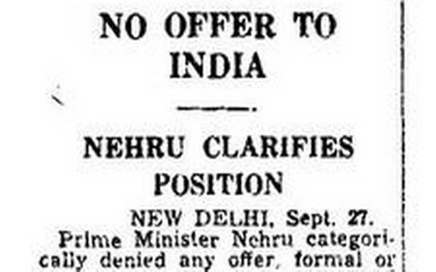 Image result for Jawaharlal Nehru on permanent UNSC membership of India