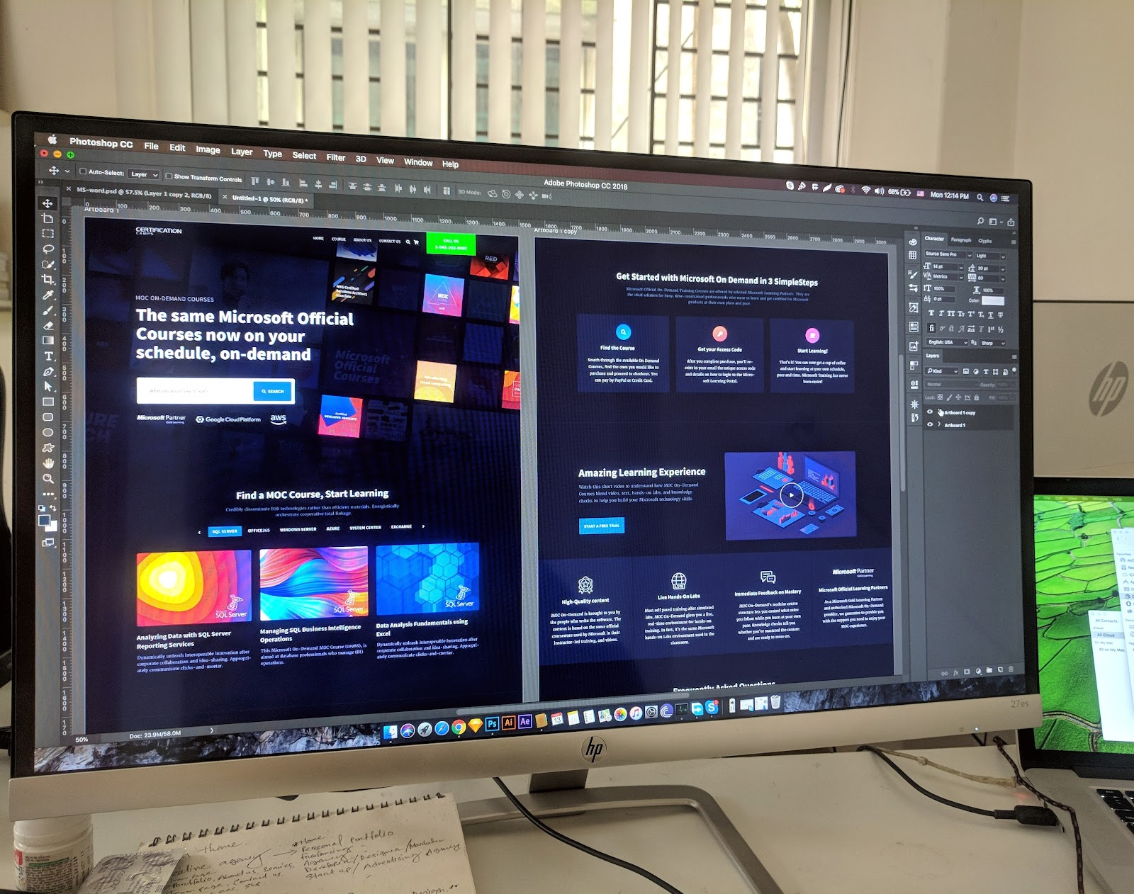 what is web design example site design