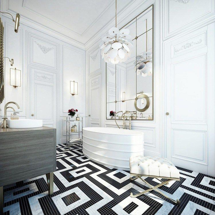 Image result for bold flooring in bathroom