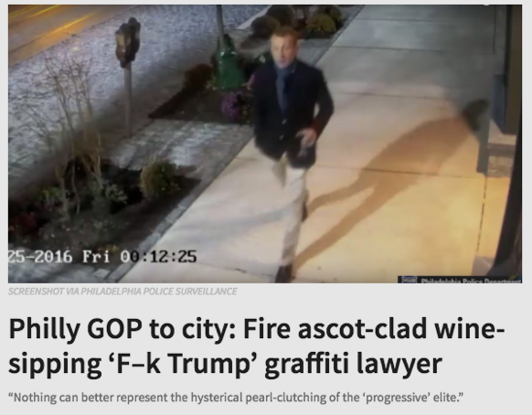 Philly GOP to city: Fire ascot-clad wine-sipping 'F-k Trump' graffiti lawyer