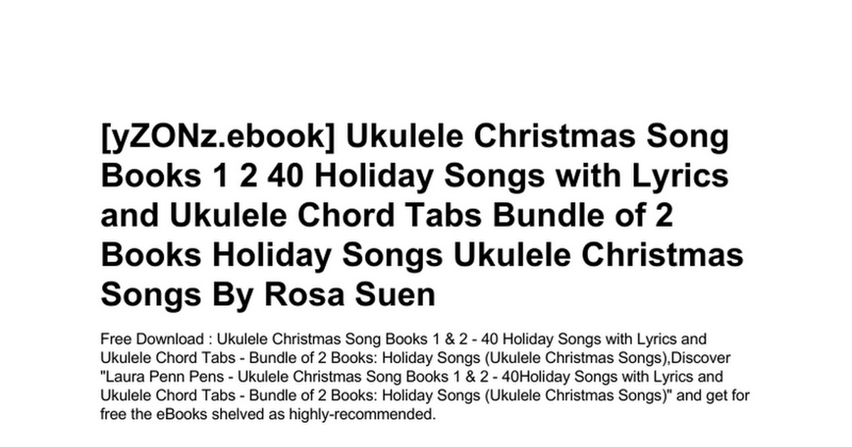 Luxury The Christmas Song Chords Ukulele Image - Chord Sites ...