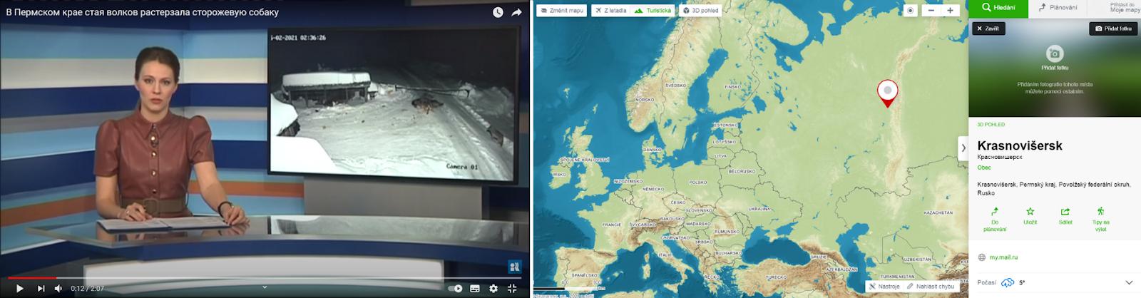 Obec Krasnovišersk, z níž video dle RifeyTV pochází leží v Permském kraji na východě evropské části Ruska
