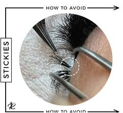 what are stickies, lash extensions, eyelash extensions, how to avoid stickies