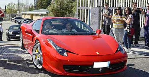 458 Italia car - Color: Red  // Description: amazing