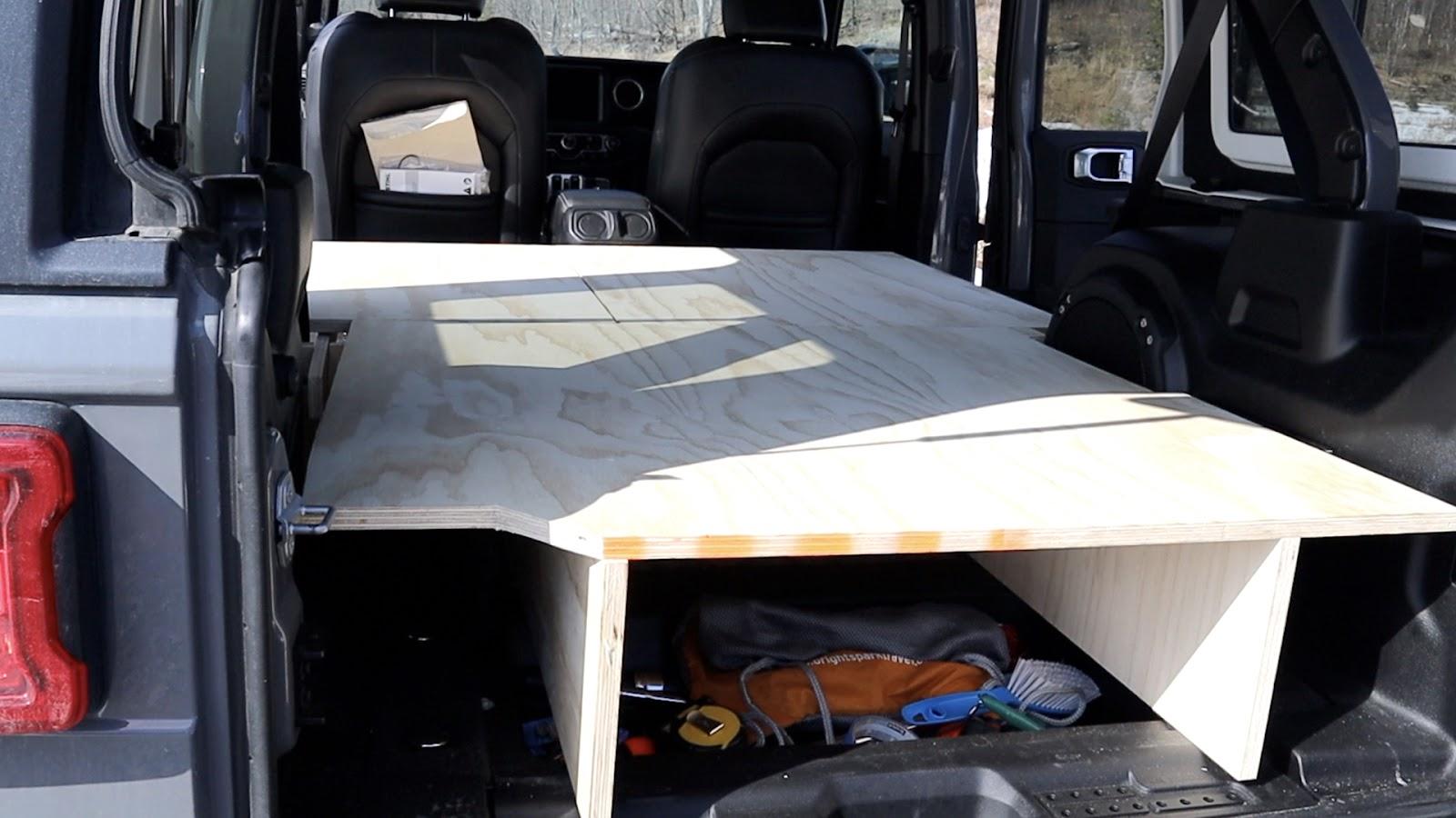 Jeep Camping Sleeping Platform