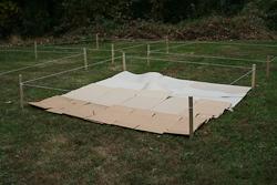 prepare soil cardboard