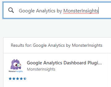 install google analytics by monsterinsights