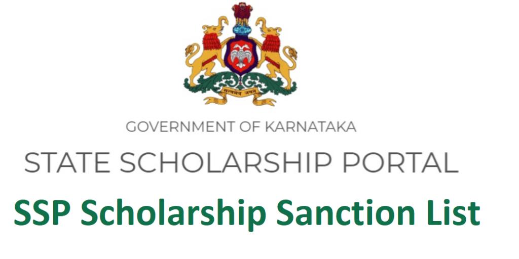 SSP Scholarship Sanction List 2021]