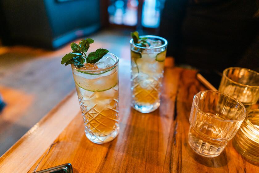 Cocktails at Little Blackwood.