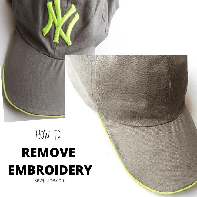 quitar el bordado de la ropa