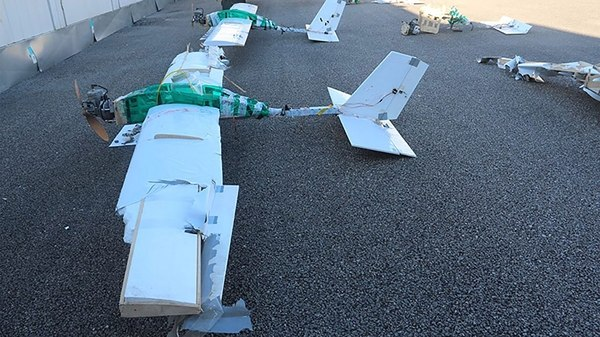 Drones shot down by Russian forces over the Khmeimim Air Base in Syria in January. (Russian Defense Ministry)