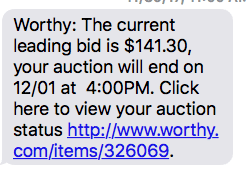 how does worthy auction work