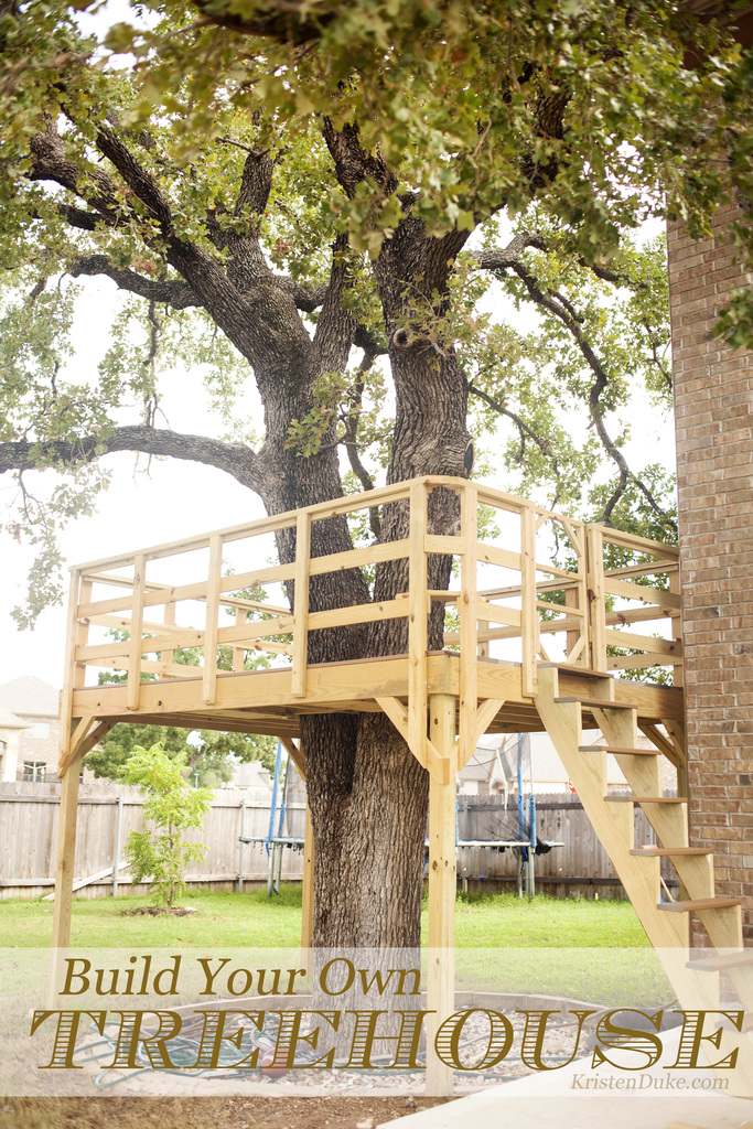 DIY Treehouse Deck