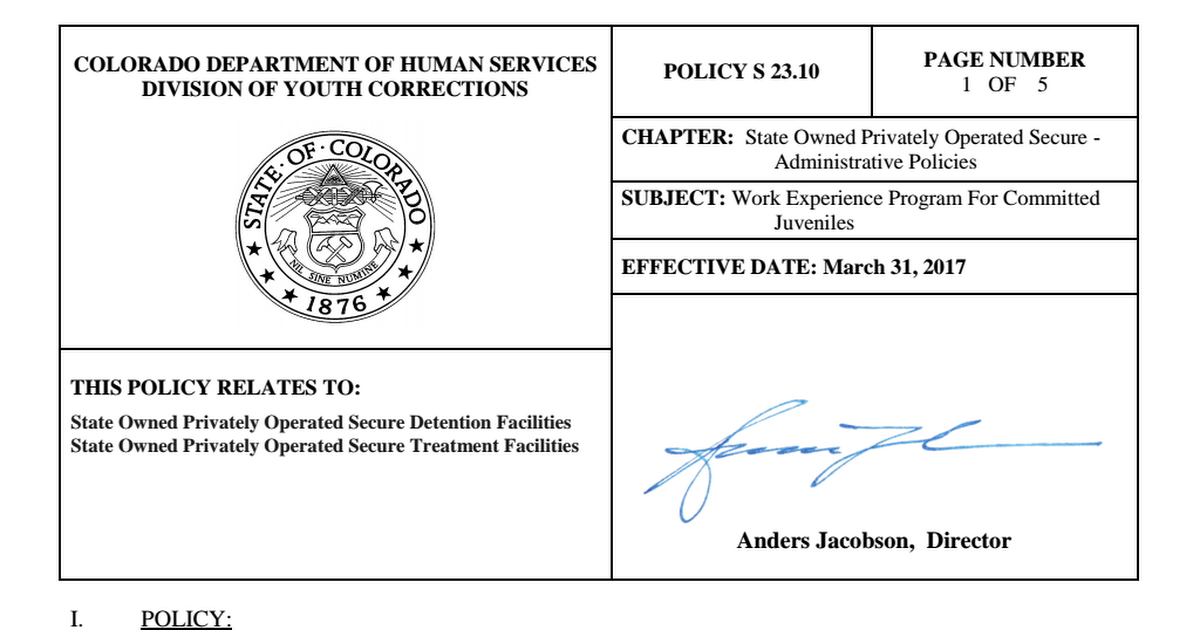S-23-10 Work Experience Program For Committed Juveniles pdf - Google