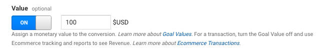 set up google analytics goals, step 5