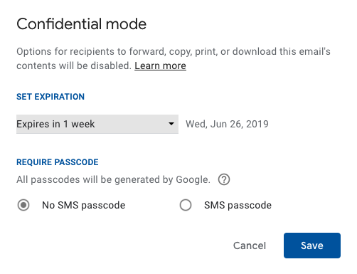 Gmail confidential mode is not secure or private
