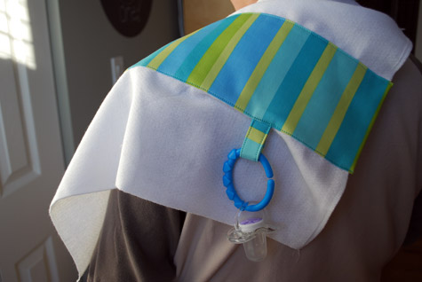 Free Baby Projects Burp Cloth With Loops