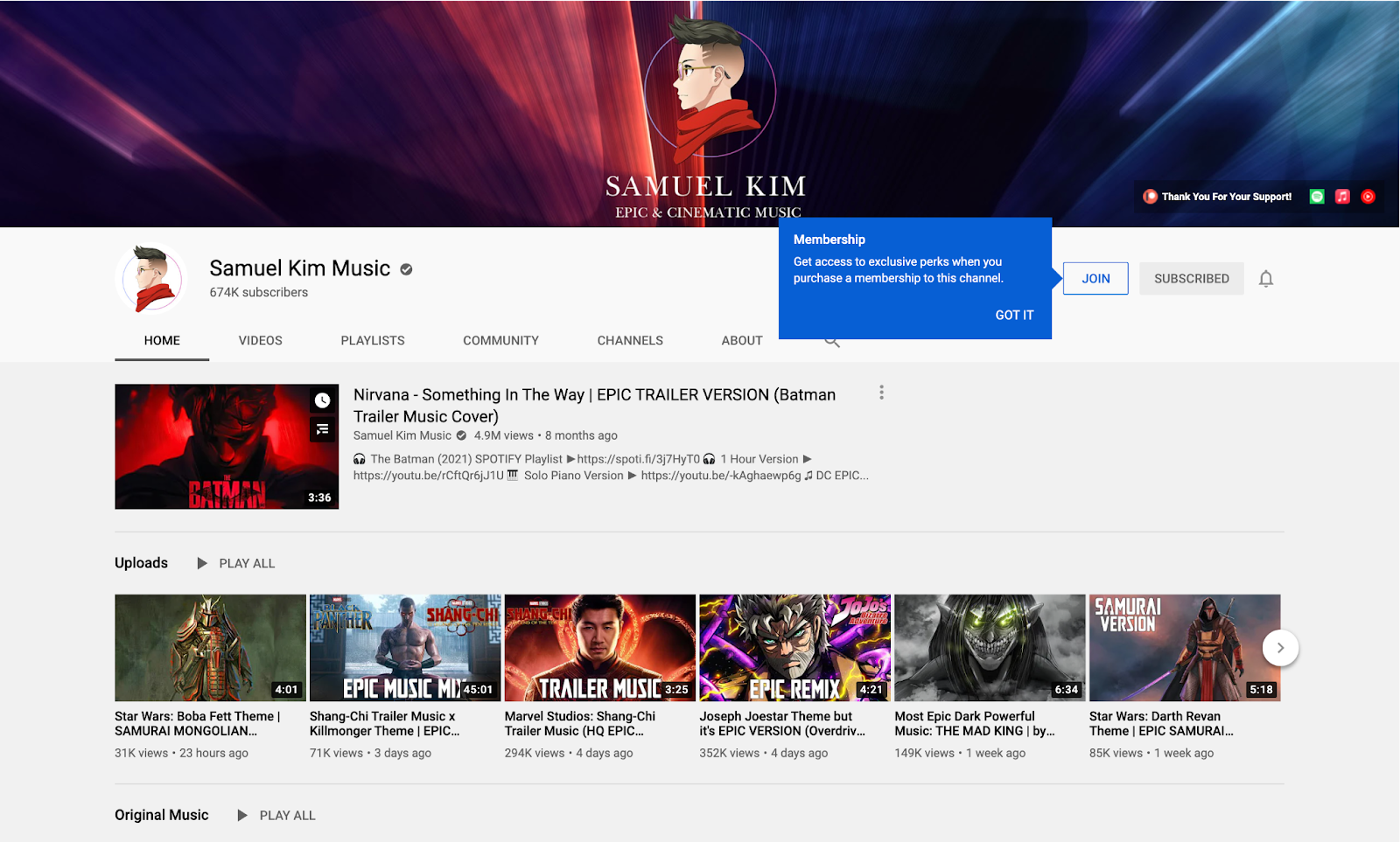 Youtube's subscription feature