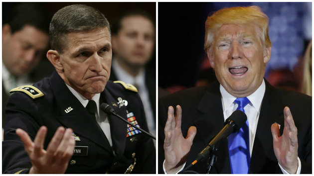 Billedresultat for trump and general flynn
