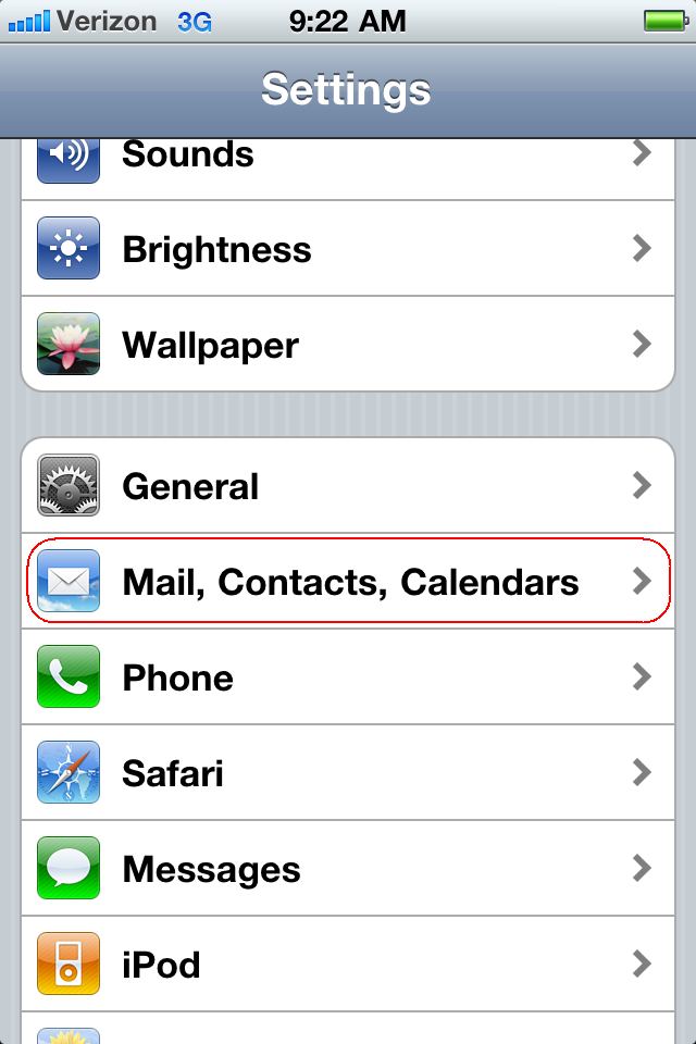 Set Up Google Sync On An Iphone Z Old Gmail For Apu