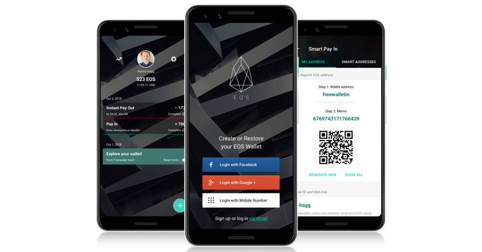 Freewallet EOS crypto wallet