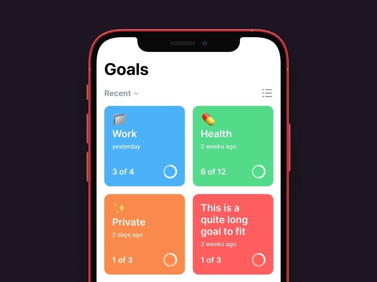 Productivity app built using react native technology