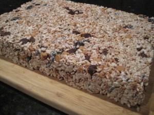 Sheet of Kitchen Sink Rice Krispy Treats